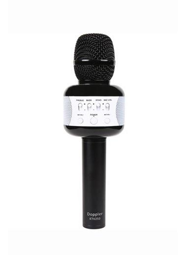 Doppler Ktv250 Siyah Bluetooth Karaoke Mikrofon-Işık&SüngerHediye Siyah